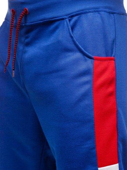 Modré pánske teplákové kraťasy BOLF 81023