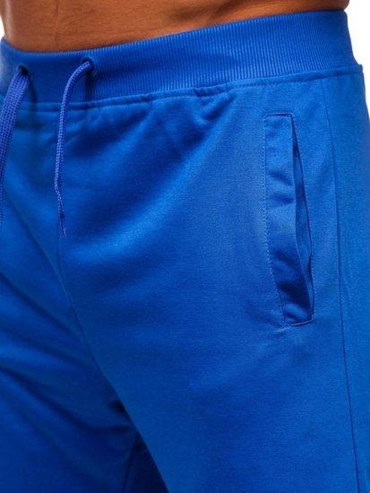 Modré pánske teplákové kraťasy Bolf AA10-A