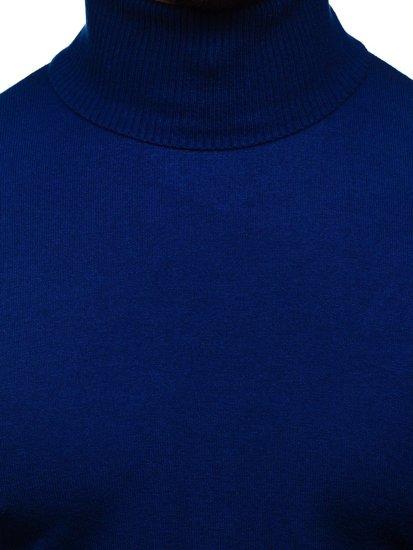 Modrý pánsky rolák bez potlače Bolf YY02
