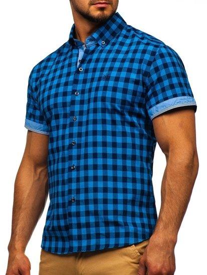 Pánska košeľa BOLF 4508 modrá