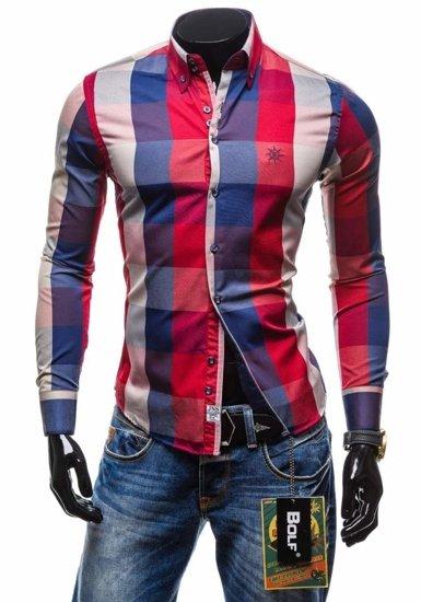 Pánska košeľa BOLF 4701-2 červená
