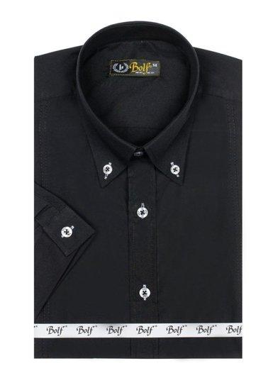 Pánska košeľa BOLF 5535 čierna