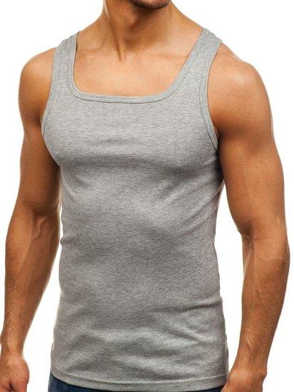 Šedé pánske tričko bez potlače BOLF C10008-A
