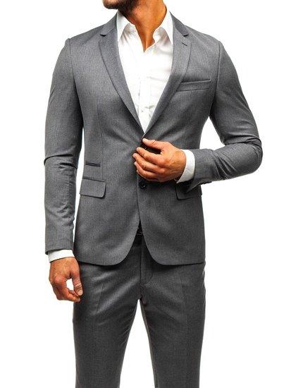 Šedý pánsky oblek BOLF 19200-1