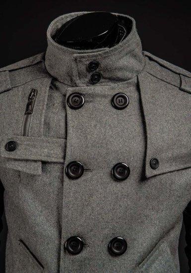 Šedý pánsky plášť BOLF 8857B