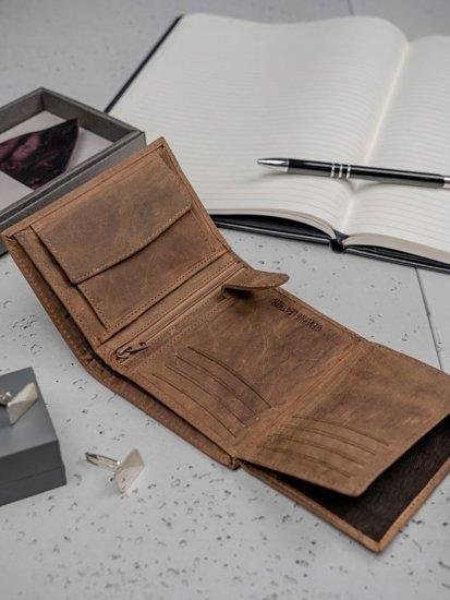 Svetlohnedá pánska kožená peňaženka 3185