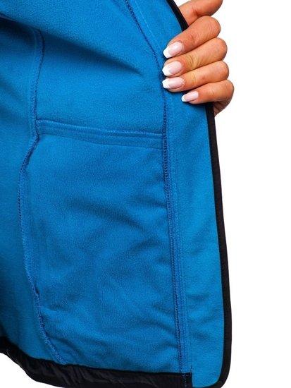 Tmavomodrá dámska softshellová prechodná bunda BOLF AB056