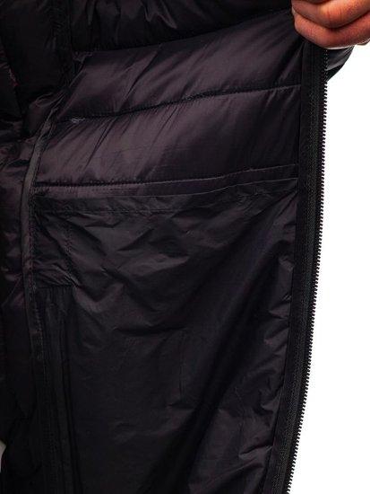 Tmavomodrá maskáčová pánska športová prechodná bunda Bolf LY1001-1