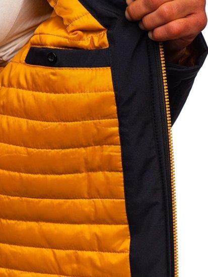 Tmavomodrá pánska prechodná bunda Bolf 5985