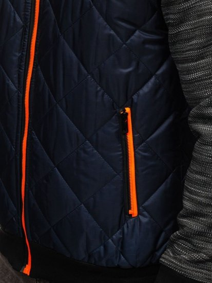 Tmavomodrá pánska prechodná bunda Bolf TY37