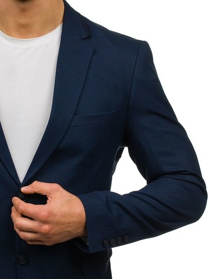 Tmavomodré pánske elegantné sako BOLF 1050
