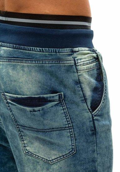 Tmavomodré pánske riflové baggy nohavice BOLF 007b