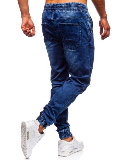 Tmavomodré pánske rifľové joggery Bolf KA752