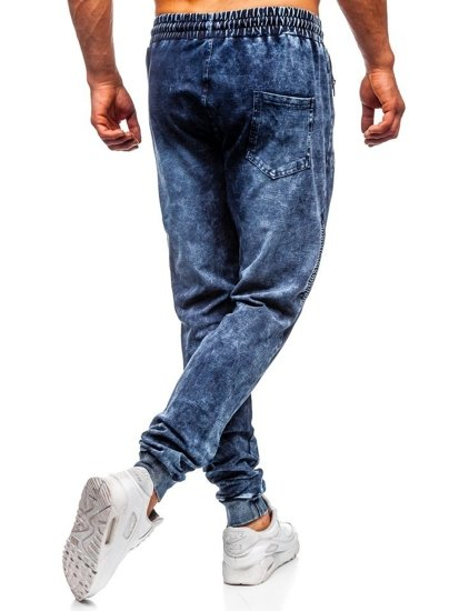 Tmavomodré pánske rifľové joggery  Bolf KK1036