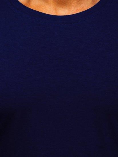 Tmavomodrý pánsky nátelník bez potlače BOLF 2088L