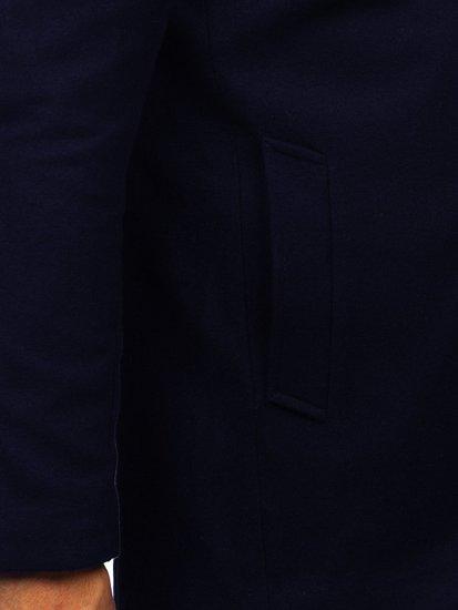 Tmavomodrý pánsky zimný kabát Bolf 0010