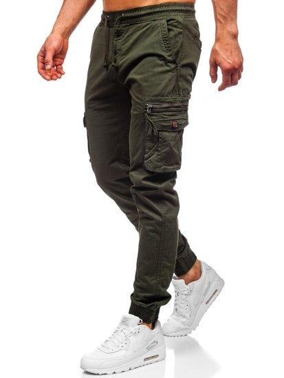 Tmavozelené pánske kapsáčové joggery Bolf CT6702