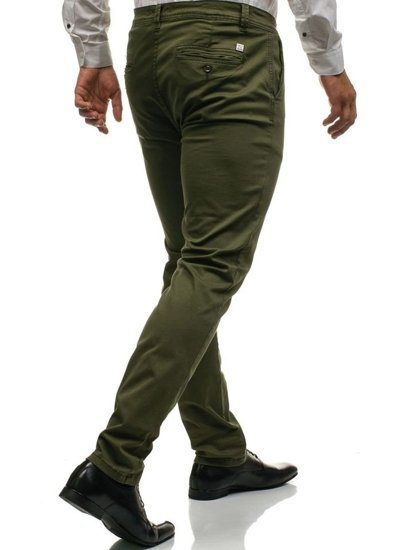 Zelené pánske chinos nohavice BOLF 6807