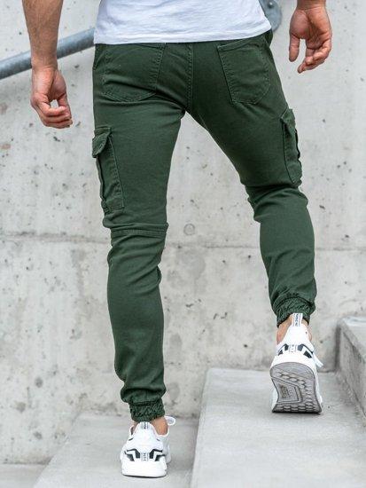 Zelené pánske jogger nohavice BOLF 2039