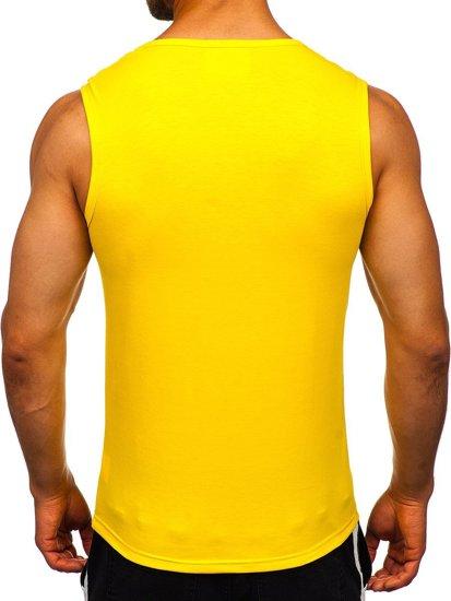 Žlté pánske tielko bez potlače Bolf 99001