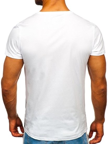 Žlté pánske tričko s potlačou Bolf 100767