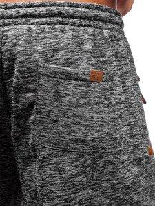 Antracitovo-hnedé pánske tepláky BOLF Q3520