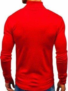 Červený pánsky sveter / rolák BOLF 2400