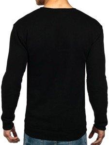 Čierna pánska mikina bez kapucne BOLF 1229