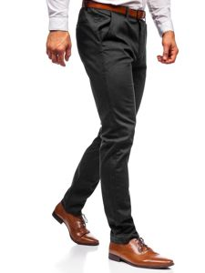 Čierne pánske chinos nohavice Bolf KA968