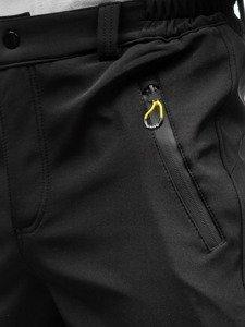 69c5ed0970188 Previous. Čierno-žlté pánske softshellové turistické nohavice BOLF 5454 ...