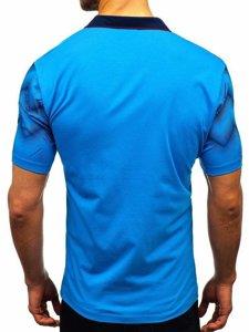 Modrá pánska polokošeľa BOLF 6601