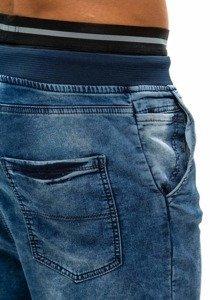Modré pánske riflové baggy nohavice BOLF 007b