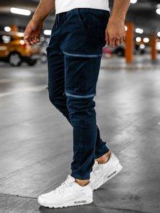 Tmavomodré pánske kapsáčové jogger nohavice Bolf 0475