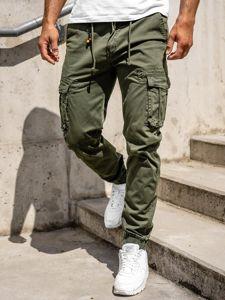 Zelené pánske kapsáčové joggery Bolf CT6703