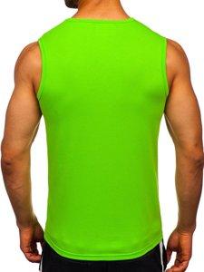 Zelené pánske tielko bez potlače Bolf 99001